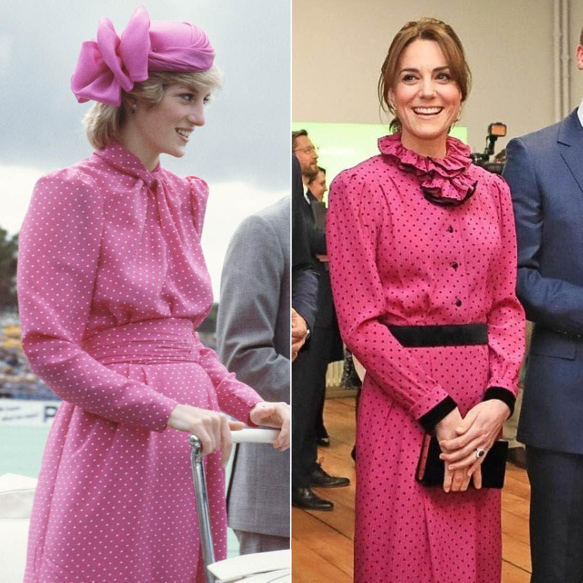كايت بإطلالة فينتاج تستحضر أناقة الأميرة ديانا