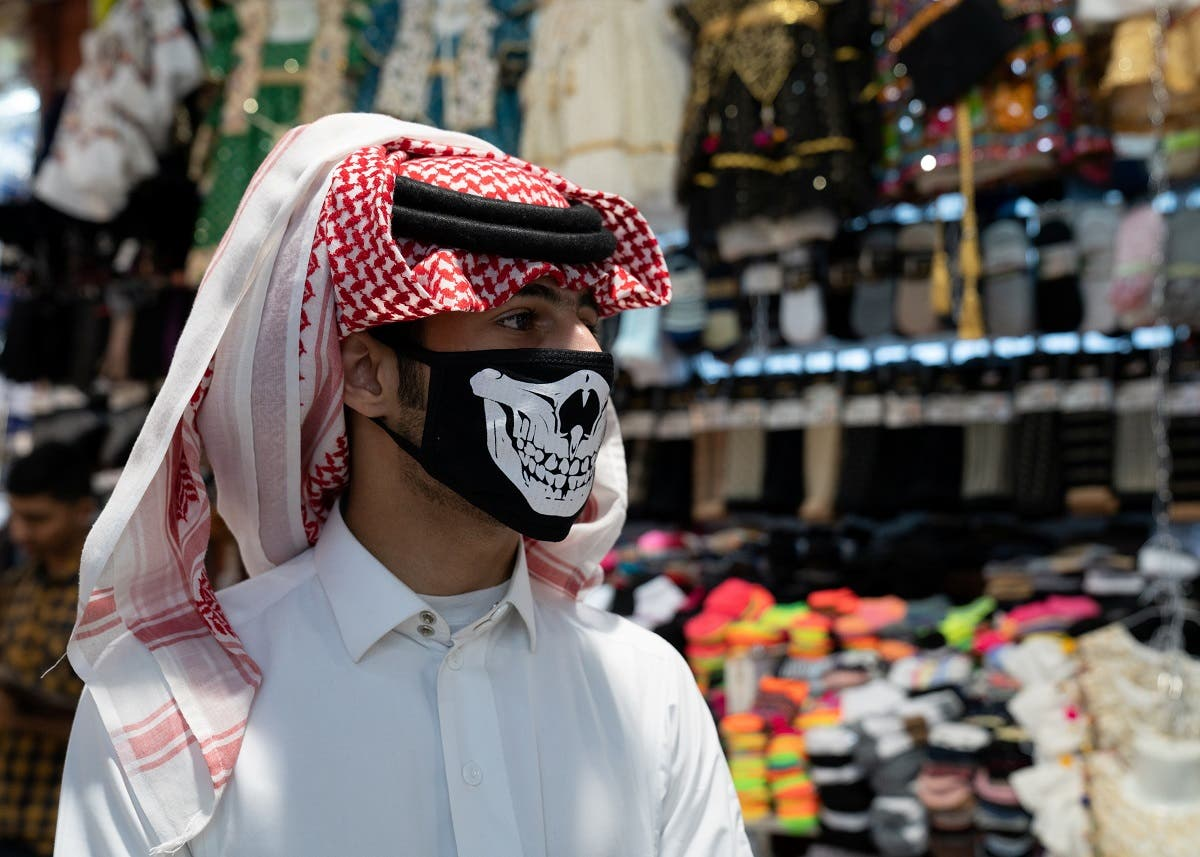 A man wears protective face mask, following the outbreak of the new coronavirus, in Kuwait, February 25, 2020. (Reuters)