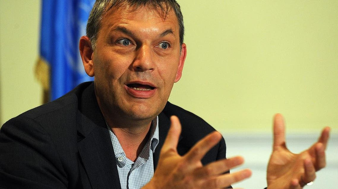 Philippe Lazzarini has deep experience in humanitarian relief work in conflict zones, including Somalia, Iraq, Angola and the Palestinian territories. (File photo: AFP)
