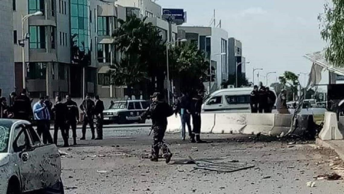 A militant blew himself up near the US embassy in Tunis on Friday. (Supplied)