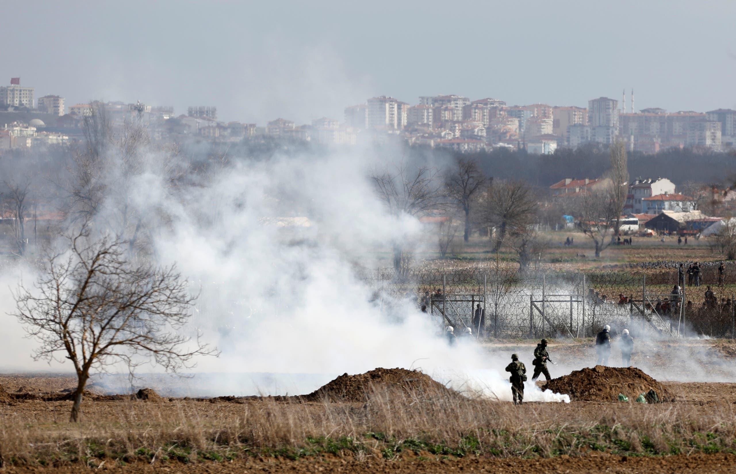 الحدود التركية اليونانية (رويترز)