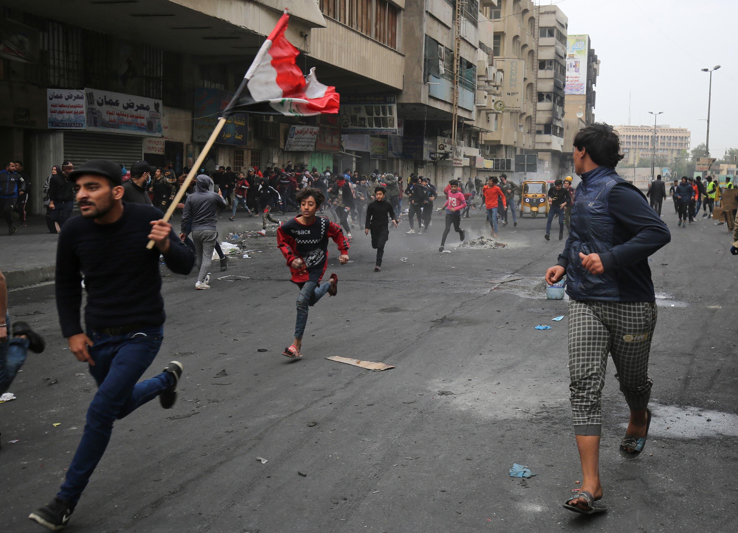 من ساحة الخلاني في بغداد يوم 19 فبراير