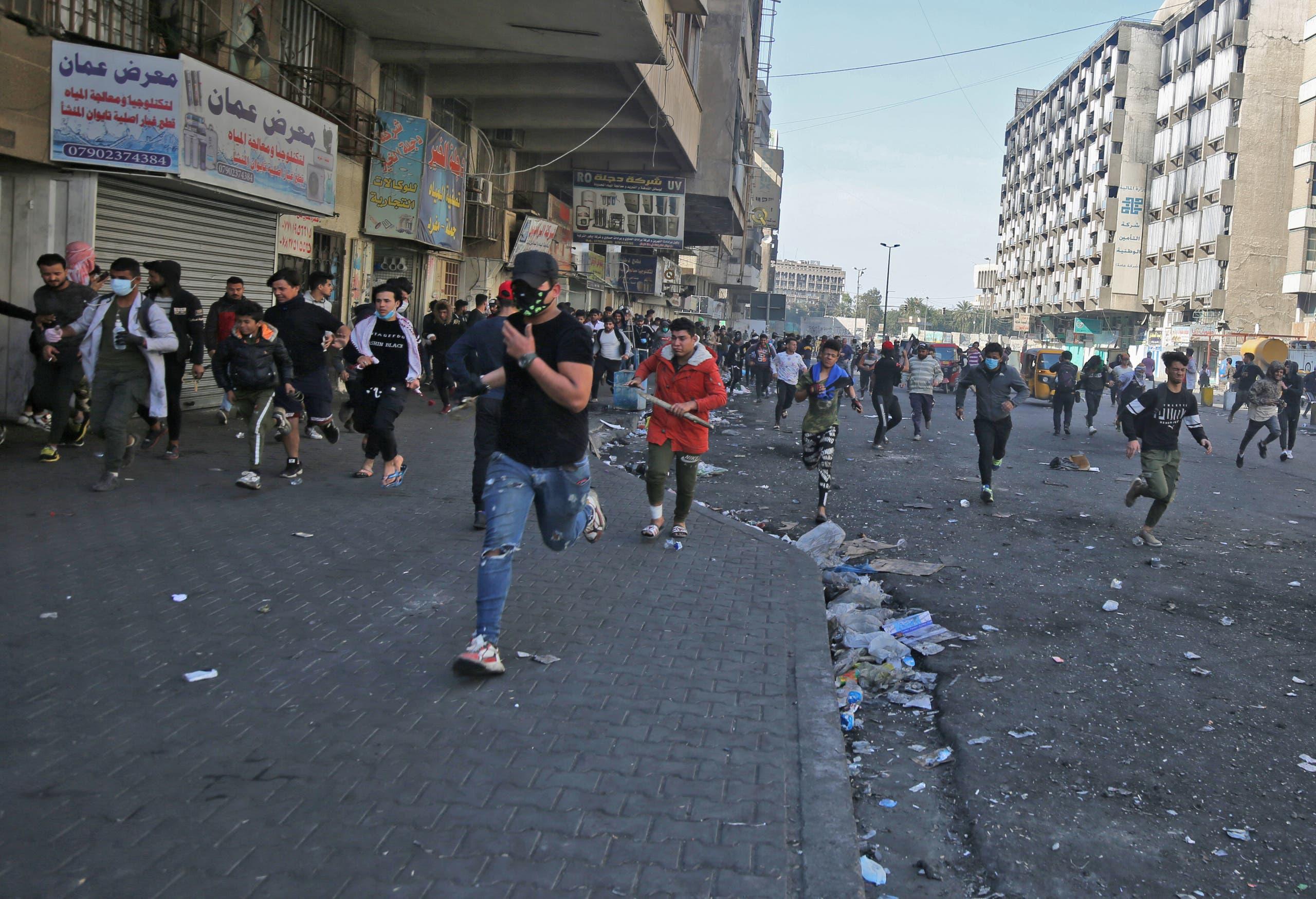 من ساحة الخلاني في بغداد يوم 21 فبراير