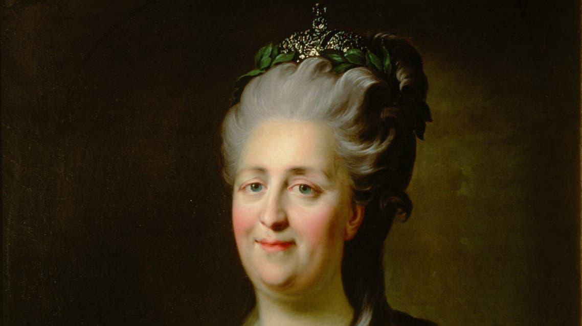 لوحة تجسد امبراطورة روسيا كاثرين العظيمة