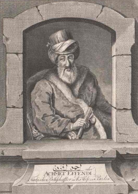 صورة للمبعوث العثماني أحمد رسمي أفندي