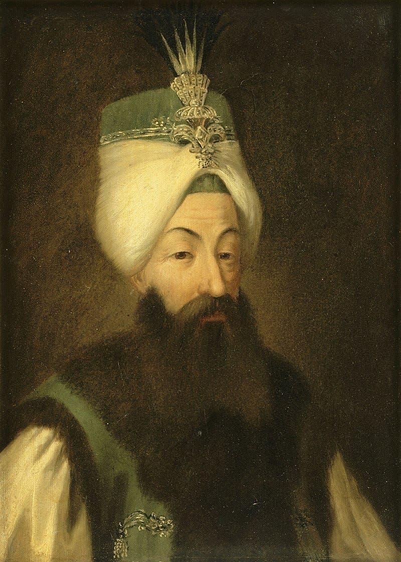 لوحة تجسد السلطان العثماني عبد الحميد الأول