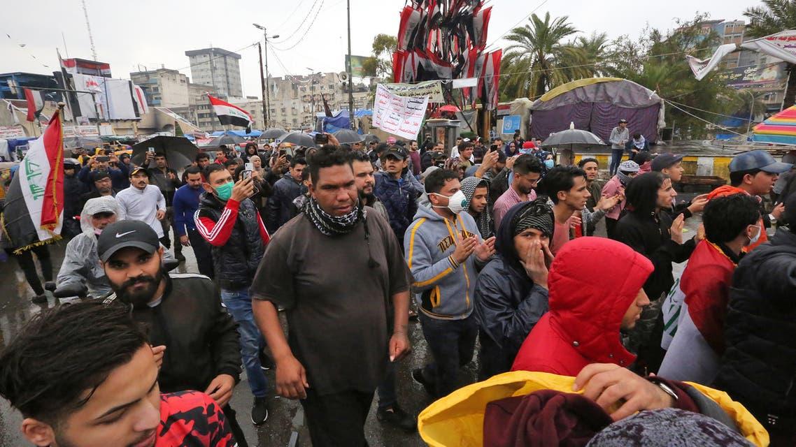 من ساحة التحرير في بغداد يوم 25 فبراير