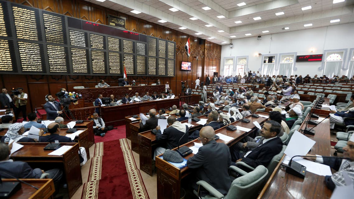 Members of Yemen's parliament attend parliament for the first time since a civil war began almost two years ago in Sanaa, Yemen August 13, 2016. REUTERS/Khaled Abdullah