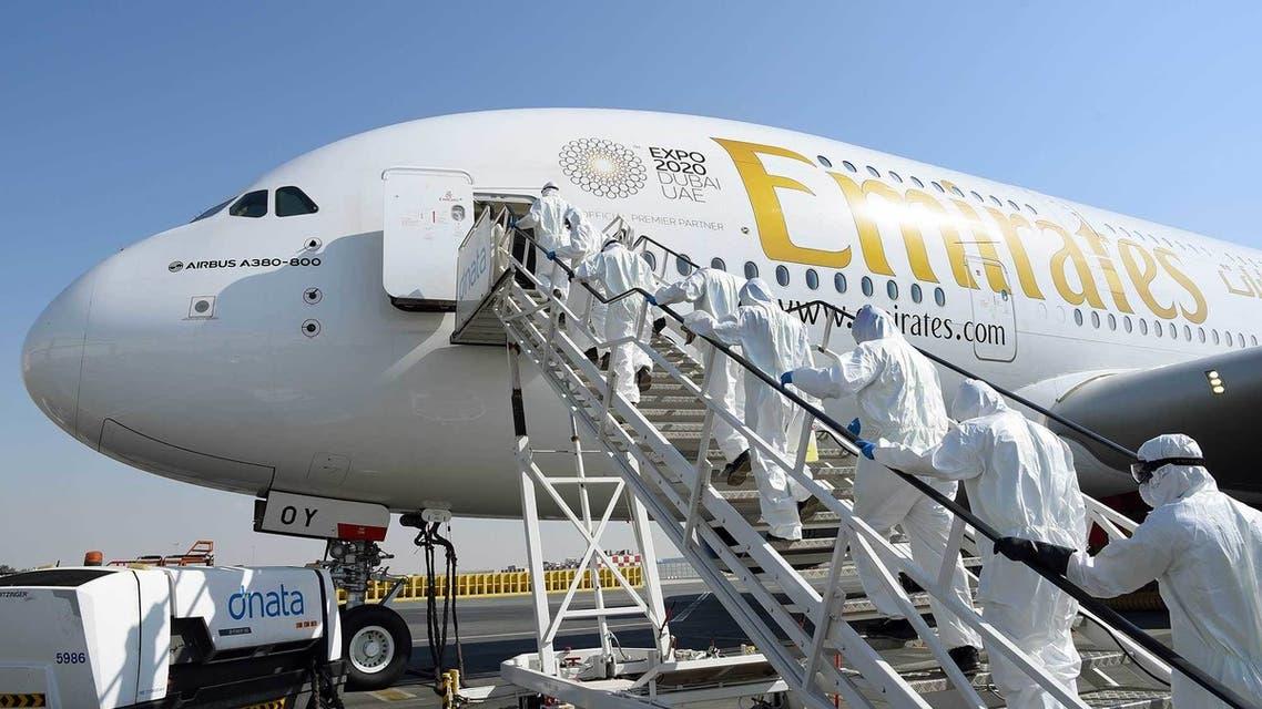 طيران الإمارات كورونا