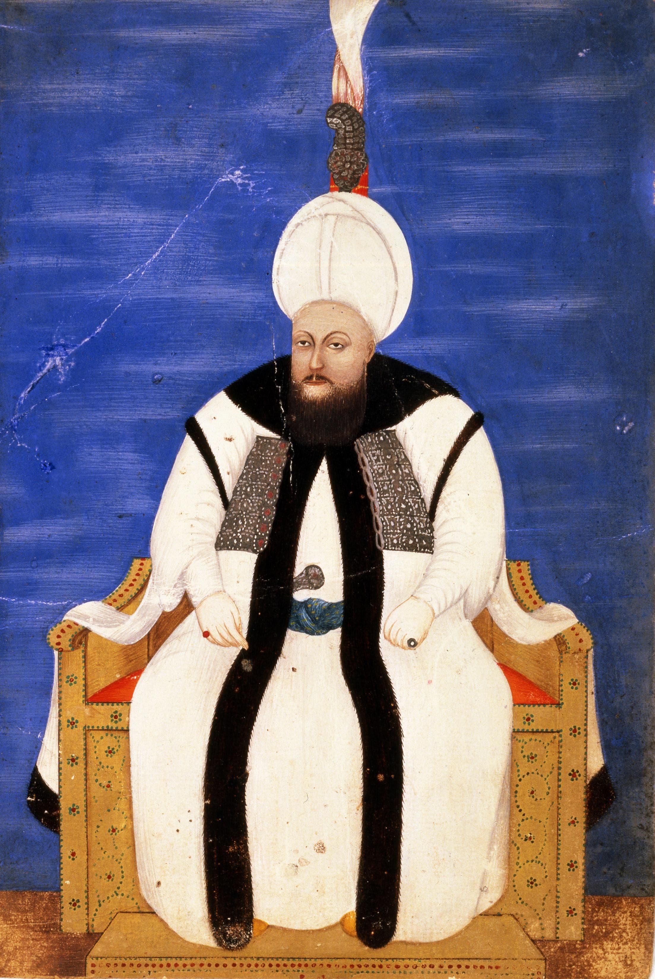 لوحة تجسد السلطان العثماني مصطفى الثالث
