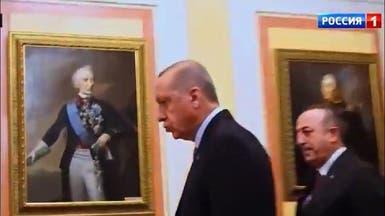 شاهد كم انتظر أردوغان وانتظر حتى سمح له بوتين بالدخول