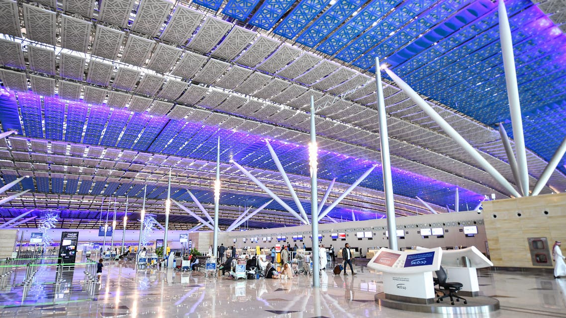 This picture taken on December 12, 2019 shows a view of a check-in area at a terminal in Saudi Arabia's King Abdulaziz International Airport in Jeddah.
