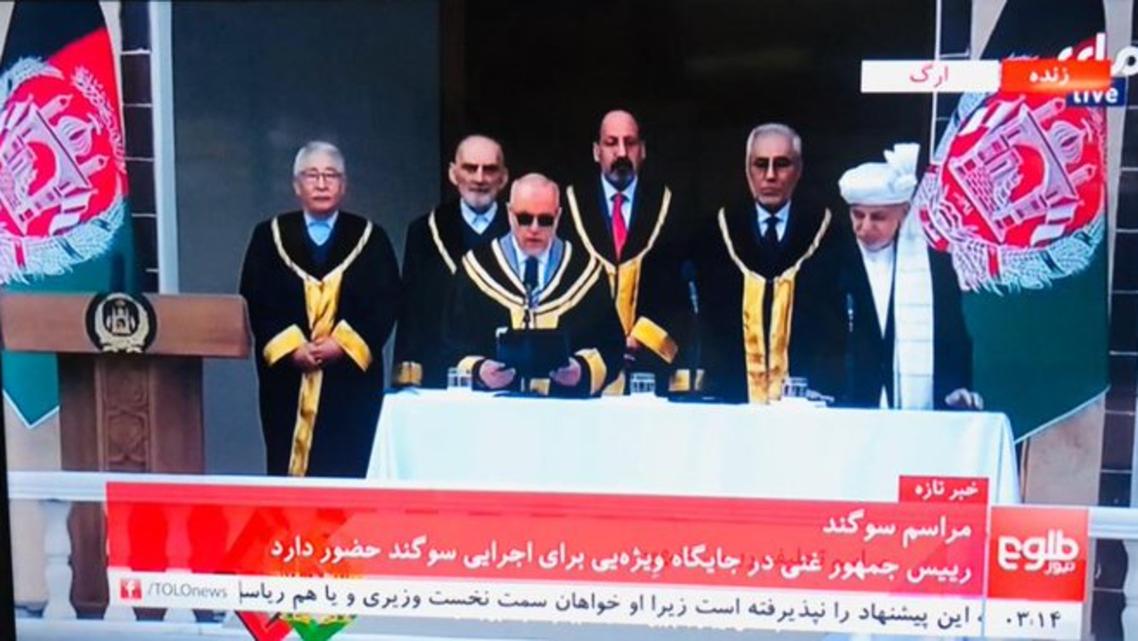 مراسم تحلیف محمد اشرف غنی رئیس جمهوری افغانستان انجام شد