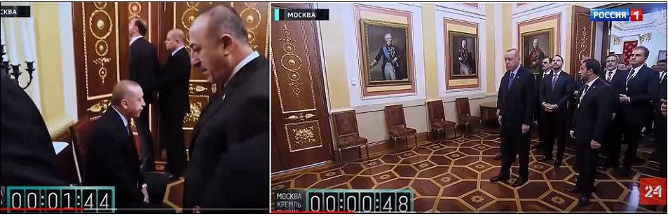 لقطتان لمهانة الانتظار، واحدة في الثانية 48 والأخرى في الدقيقة 1.44 من الفيديو