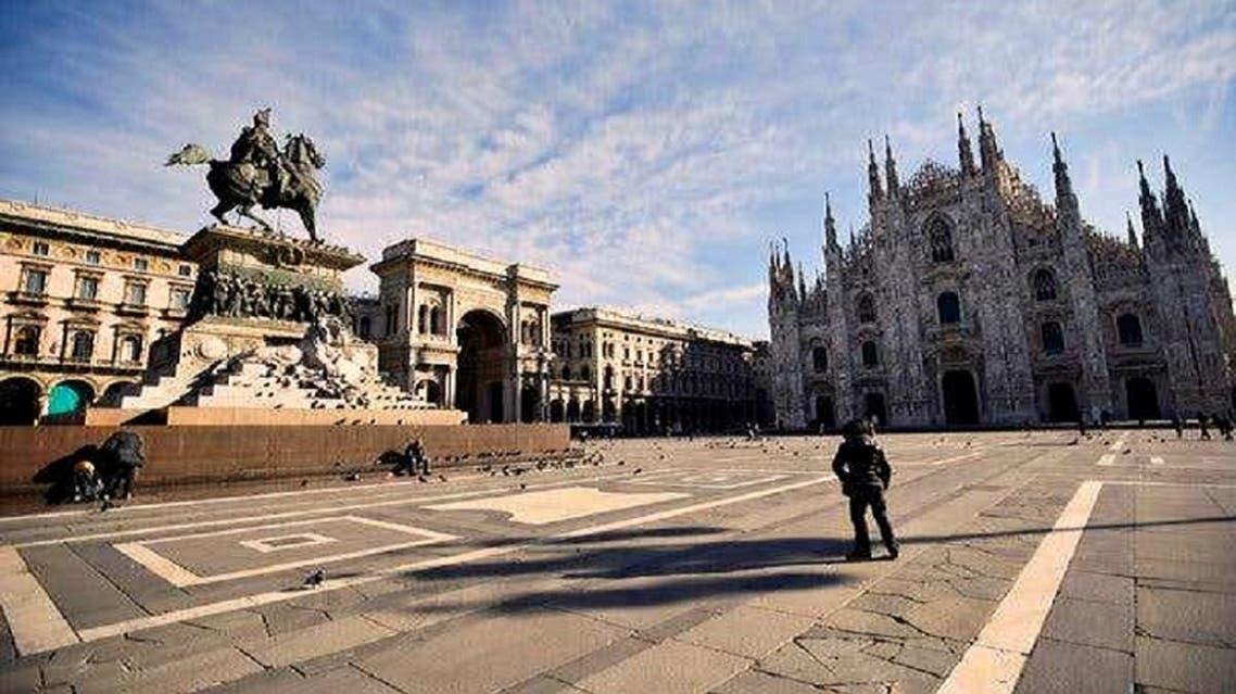 الساحات التي كانت تكتظ بالسياح أصبحت جرداء في ايطاليا