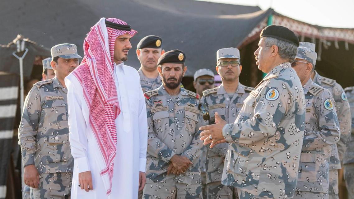 Saudi Arabia's interior minister visits border control center in Tabuk. (SPA)