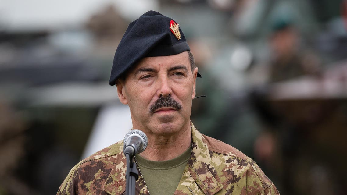 The Chief of Staff of the Italian Army Salvatore Farina  is seen during a press conference after NATO Saber Strike military exercises on June 16, 2017. (AFP)