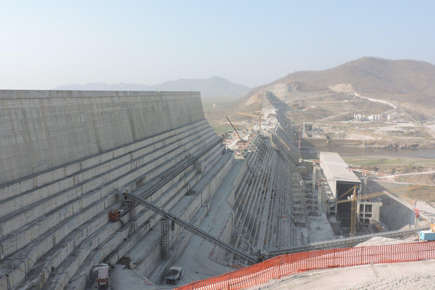 من موقع بناء سد النهضة