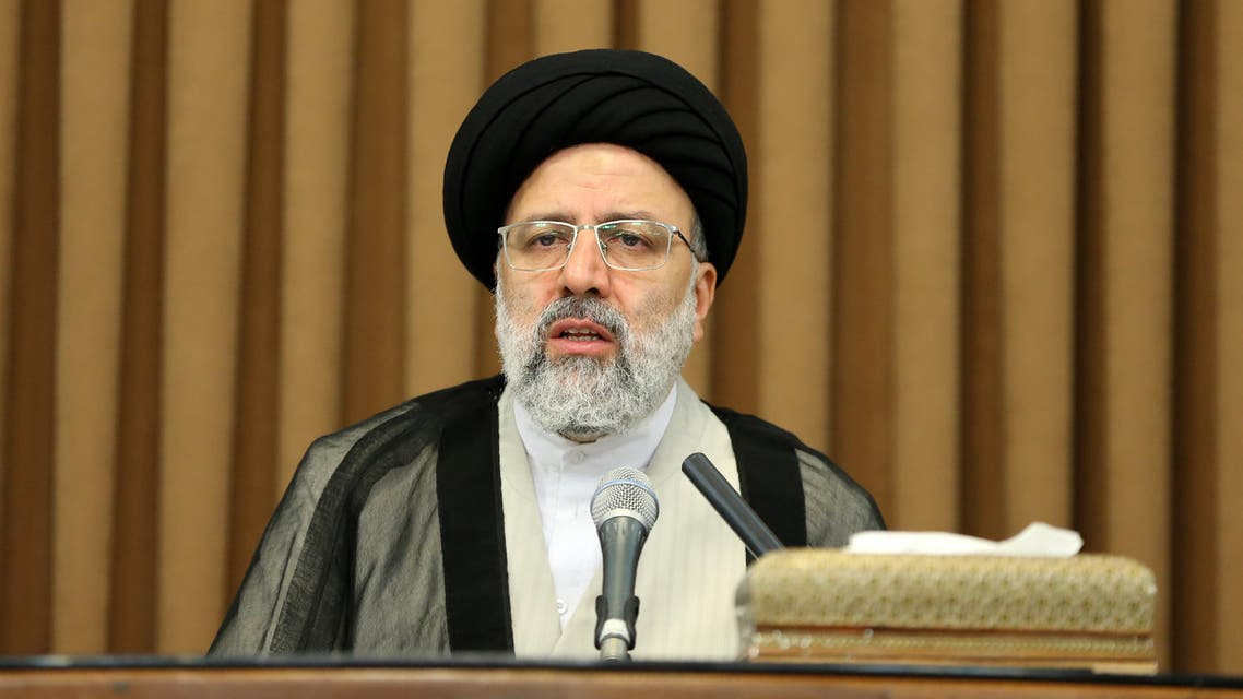Iranian Judiciary chief Ebrahim Raisi addresses a meeting with foreign ambassadors in Iran in the Islamic republic's capital Tehran on June 24, 2019. Iran denied the same day it was hit by a US cyber attack as Washington was due to tighten sanctions on Tehran in a standoff sparked by the US withdrawal from a nuclear deal.
