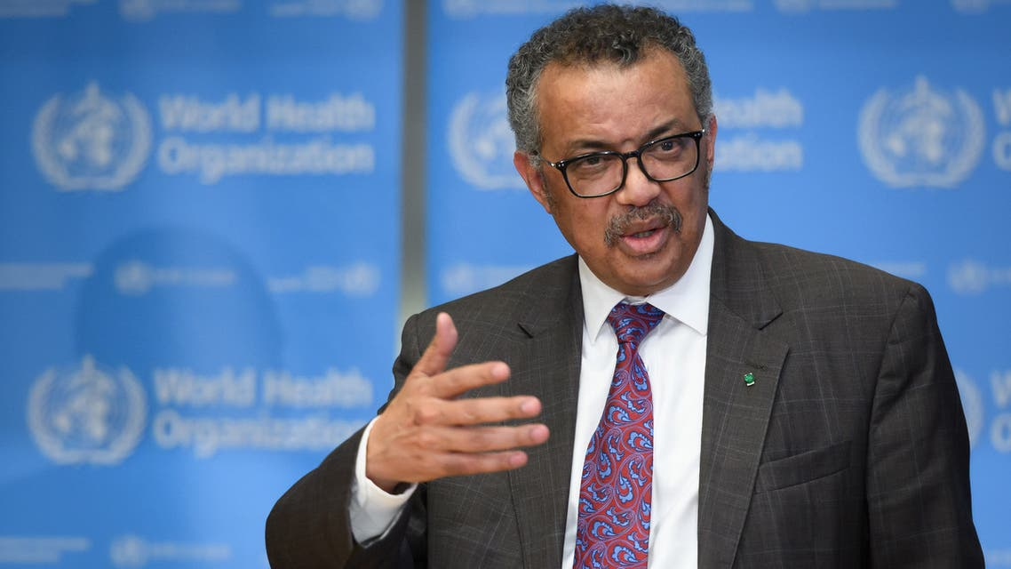 World Health Organization (WHO) Director-General Tedros Adhanom Ghebreyesus attends a daily press briefing on COVID-19, the novel coronavirus, at the WHO headquaters on February 28, 2020, in Geneva. The UN health agency on February 28, 2020, upgraded the global risk from the new coronavirus to its highest level, saying the continued increase in cases and countries affected was clearly of concern. The number of new coronavirus cases in the world rose to 83,853, including 2,873 deaths, across 56 countries and territories by 1300 GMT on February 28, 2020, according to a report gathered by AFP from official sources.