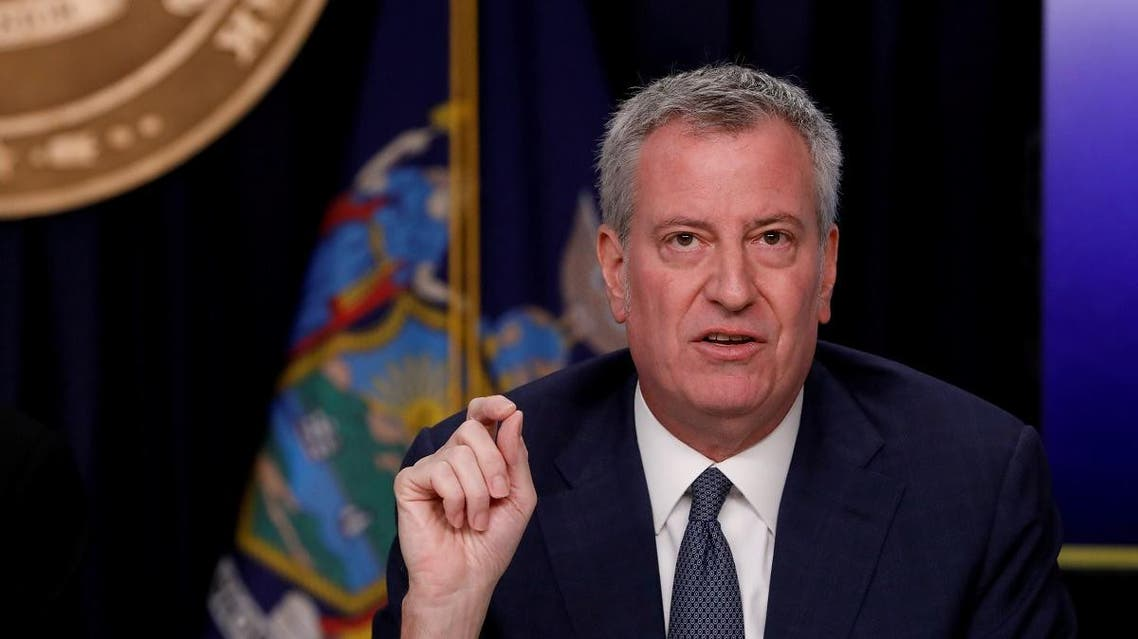 New York City Mayor Bill de Blasio is seen at a news briefing in the Manhattan borough of New York City, New York, US, March 2, 2020. (Reuters)