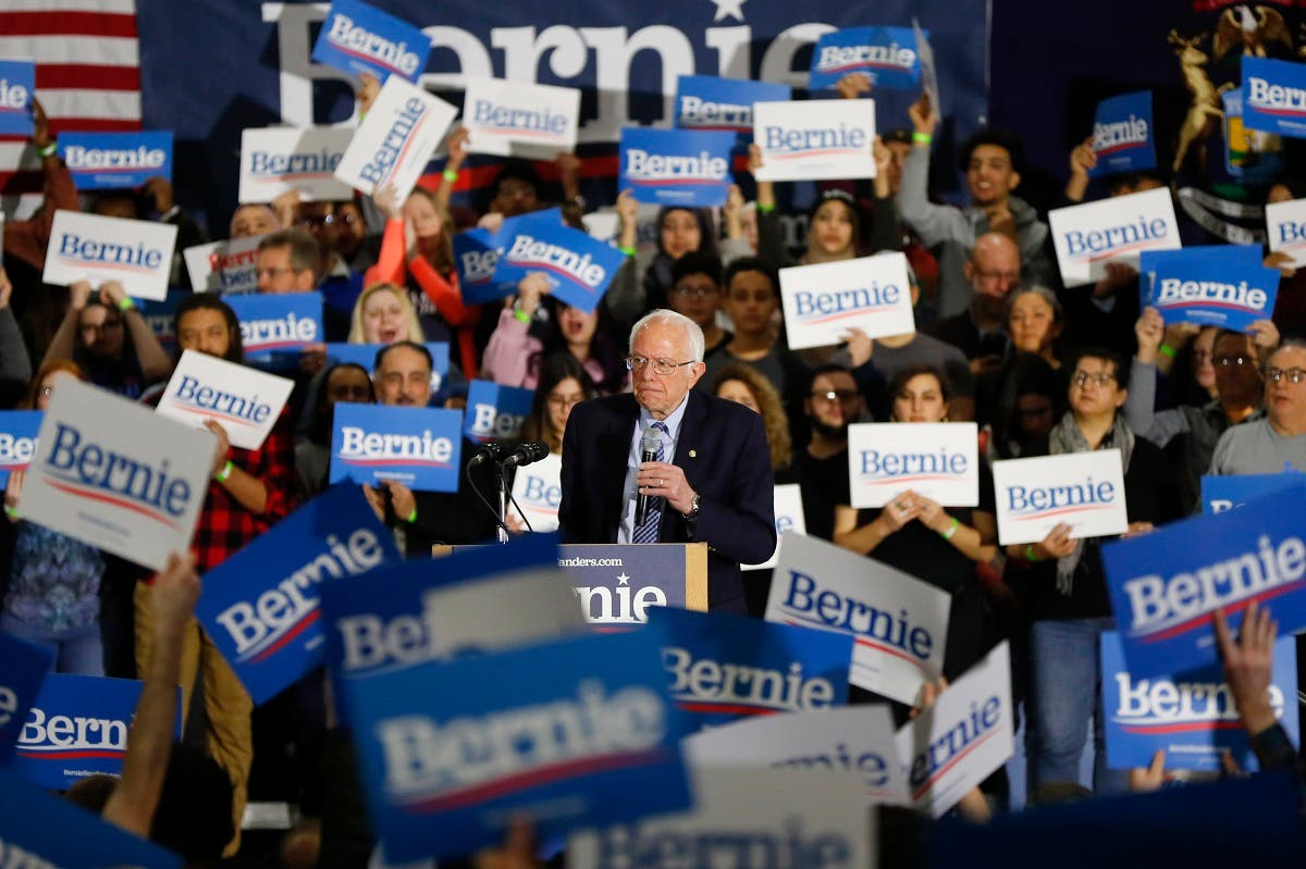Democratic presidential candidate Sen. Bernie Sanders, I-Vt., speaks during a campaign rally in Dearborn, Mich. (AP)