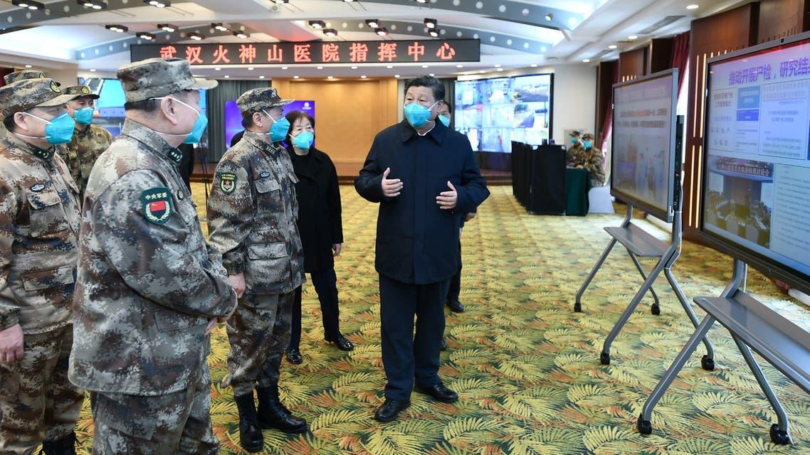 الرئيس الصيني في ووهان