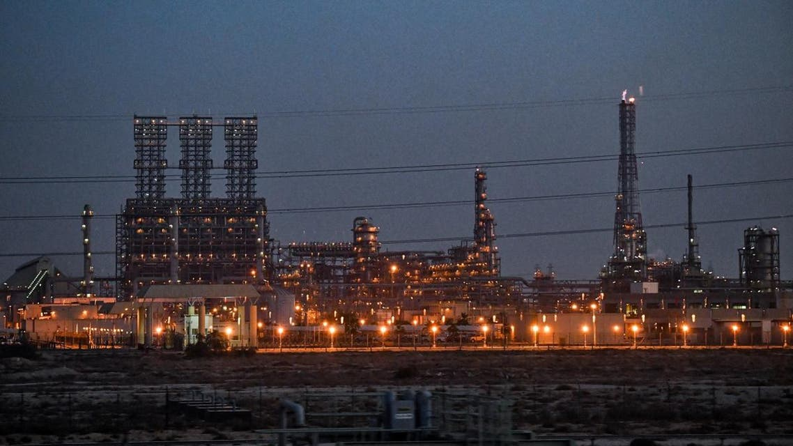 This picture taken on December 11, 2019, shows a view of a refinery at the Jubail Industrial City, about 95 kilometres north of Dammam in Saudi Arabia's eastern province overlooking the Gulf. (File photo: AFP)