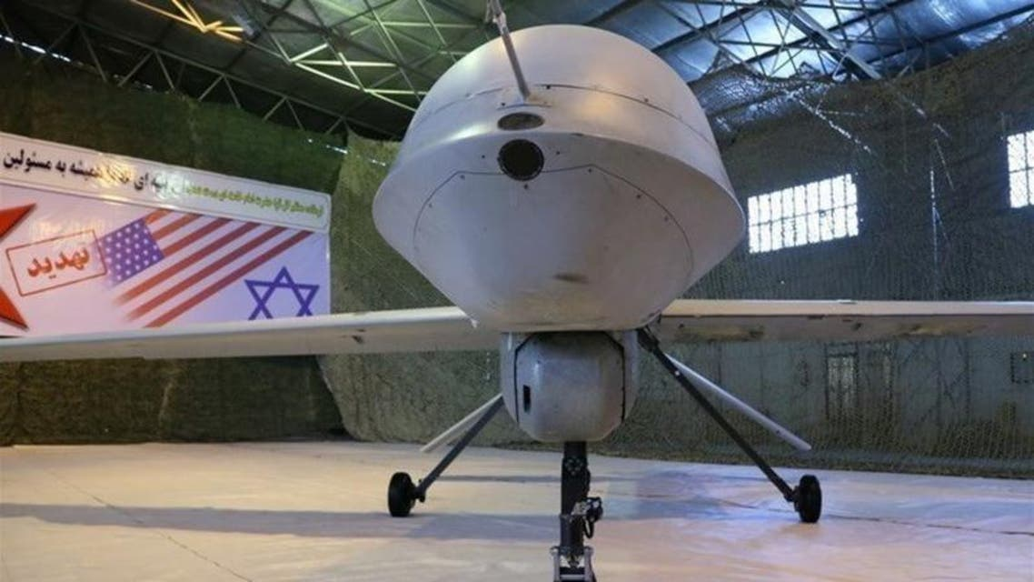 An Iranian version of the American MQ-1 Predator drone is seen in Iran, in this undated handout photo. (Reuters)
