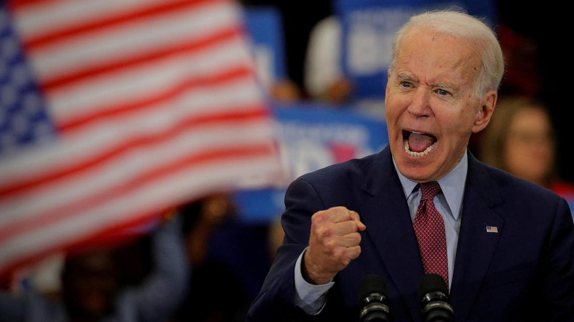 Democratic US presidential candidate and former Vice President Joe Biden speaks during a campaign stop in Detroit, Michigan, US, March 9, 2020. (Reuters)