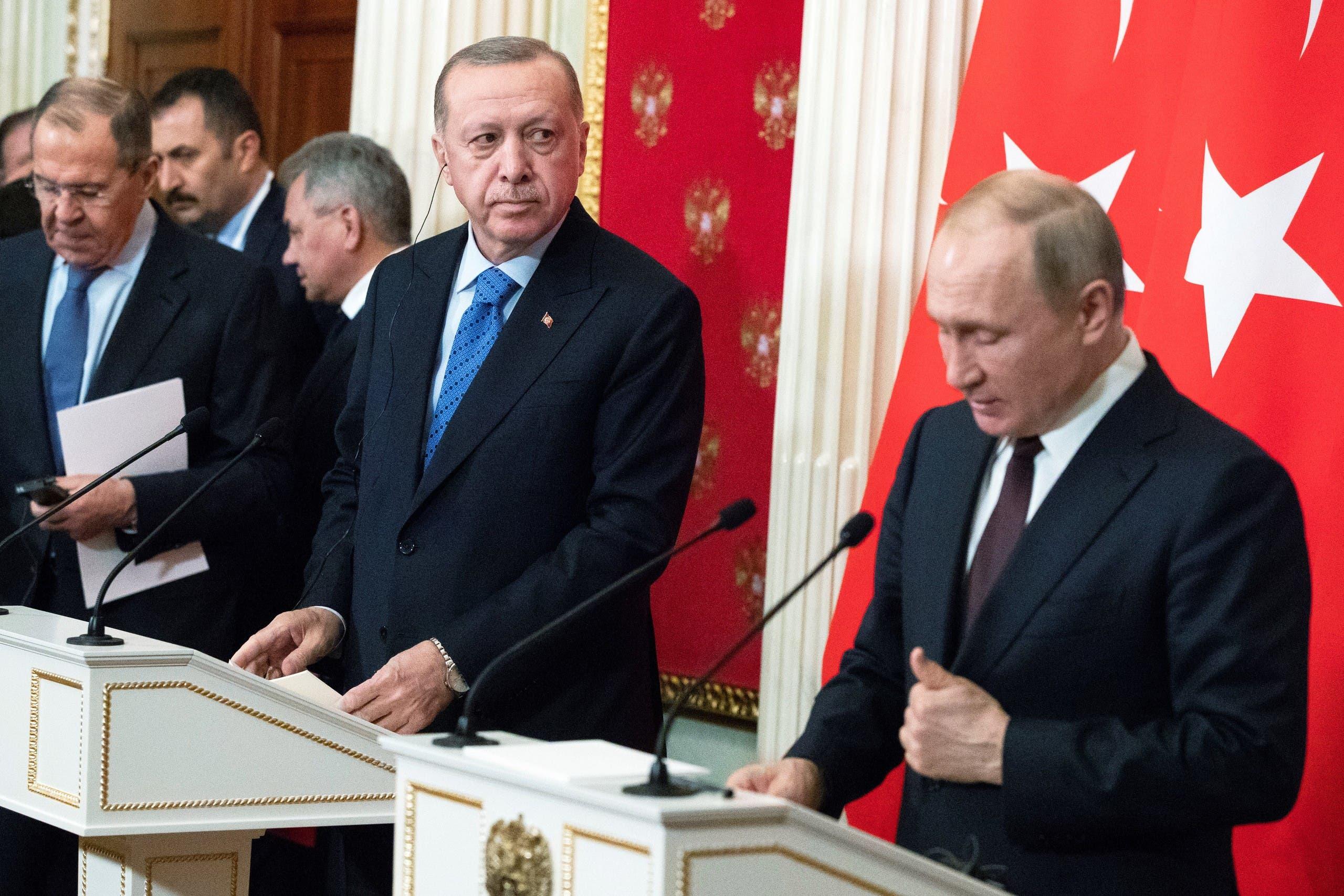 بوتين وأردوغان في موسكو (أرشيفية- فرانس برس)