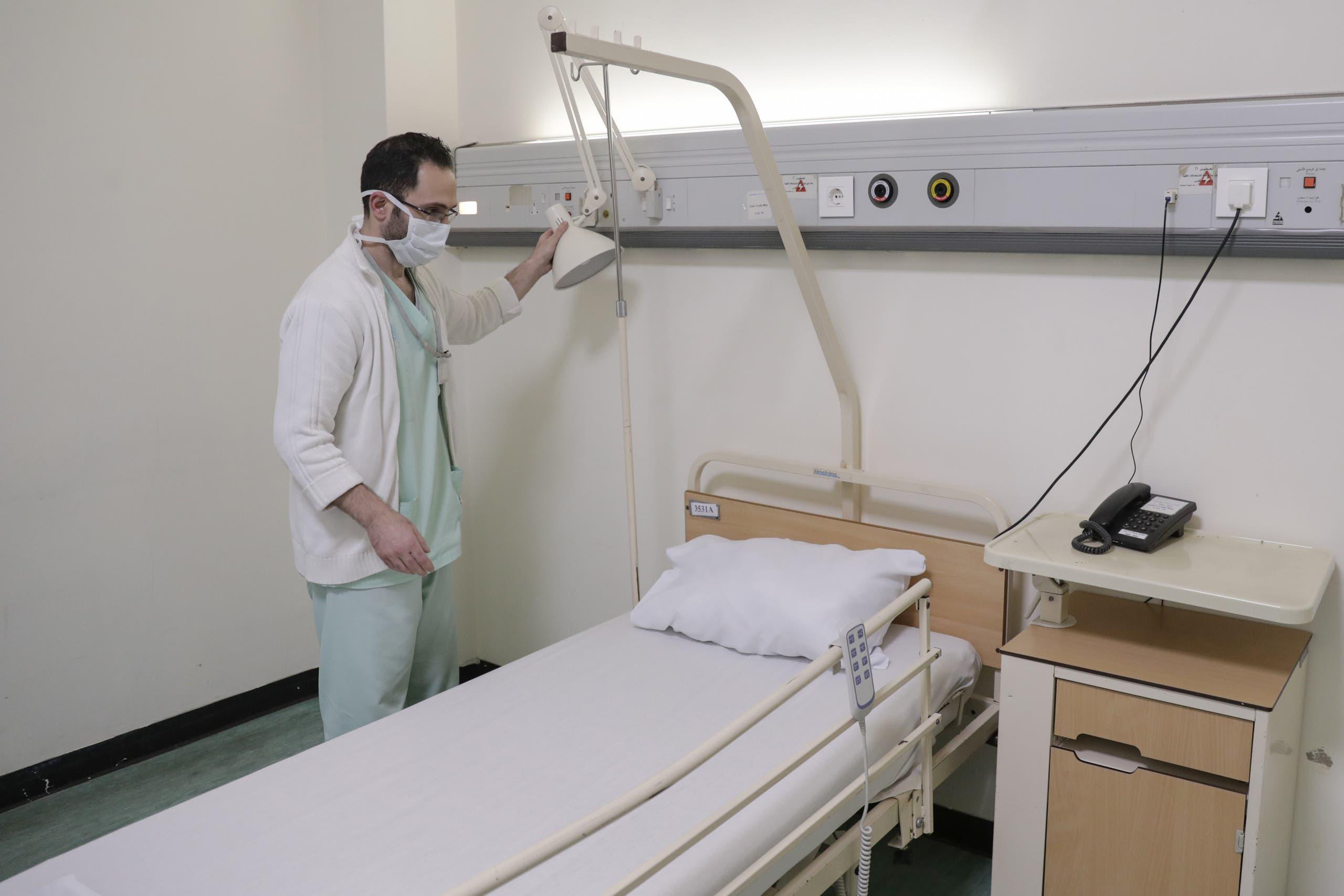 من مستشفى رفيق الحريري في بيروت(تعبيرية)
