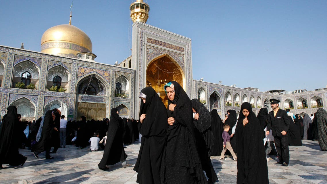 Female Muslim worshippers at the shrine of the 8th Shia Muslims' Imam, in the city of Mashhad, on Sept. 1, 2010. (AP)