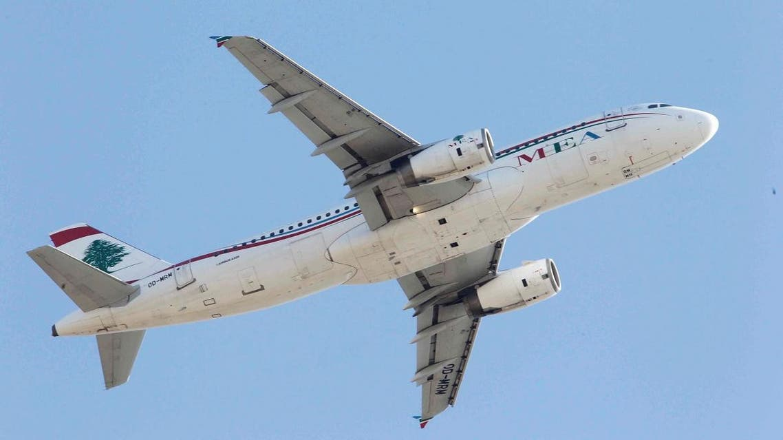 A Lebanese Middle East Airlines (MEA) Airbus A320 plane flies over Beirut. (File photo: Reuters)