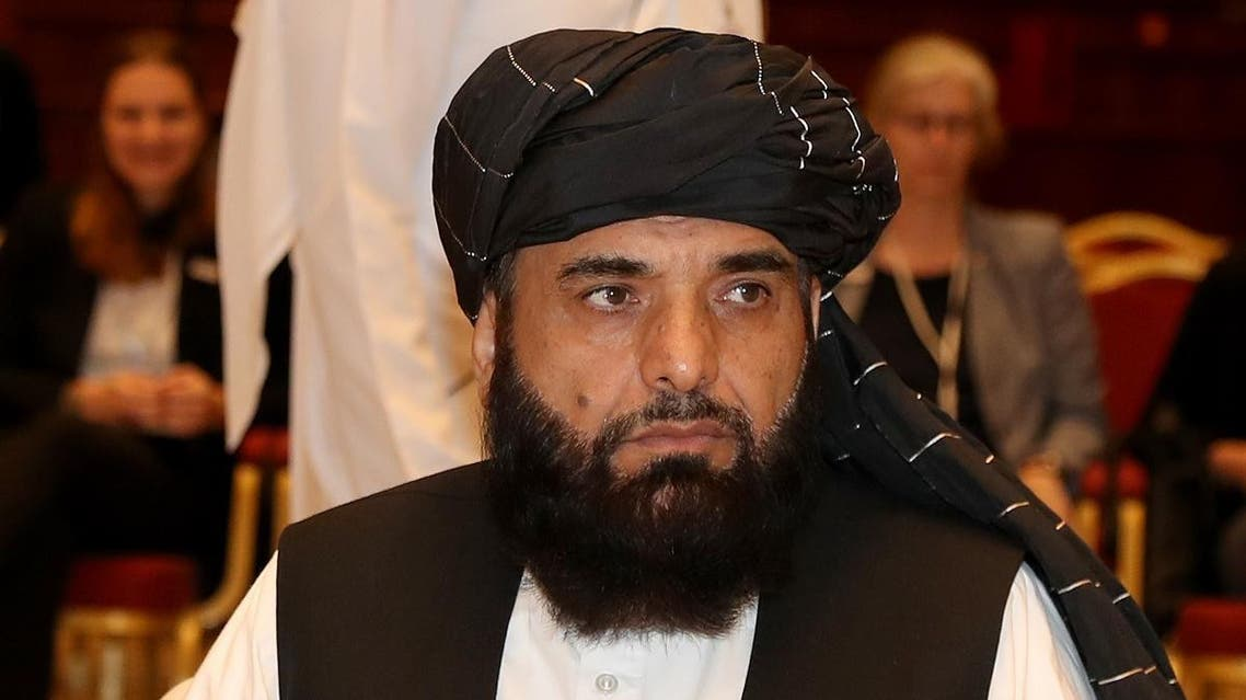 Suhail Shaheen, spokesman for the Taliban in Qatar, attends the Intra Afghan Dialogue talks in the Qatari capital Doha on July 7, 2019. (AFP)