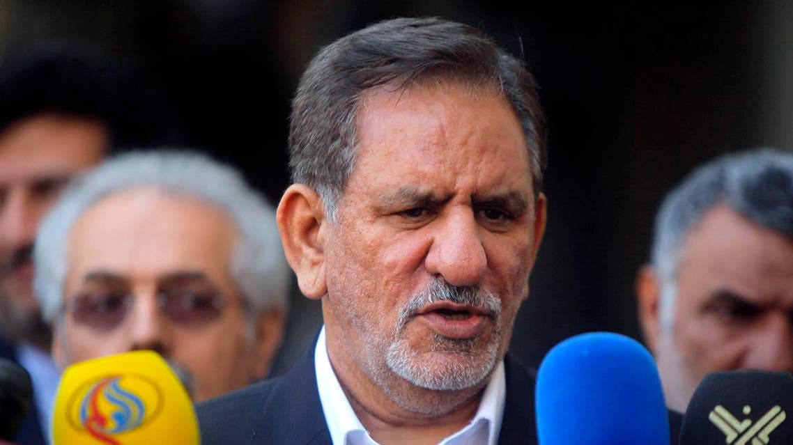 Iranian Vice President Jahangiri speaks during a news conference after a meeting with Iraq's top Shi'ite cleric in Najaf. (Reuters)