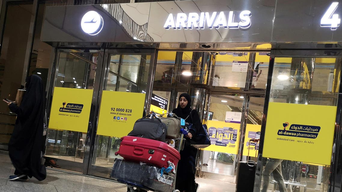 A Saudi woman is seen with her luggage as she arrives at King Fahd International Airport in Dammam, Saudi Arabia, August 21, 2019. (File photo: Reuters)