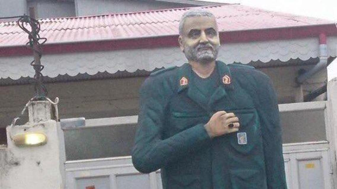 Statue of Qassem Soleimani in the Iranian city of Gilan. (Twitter)