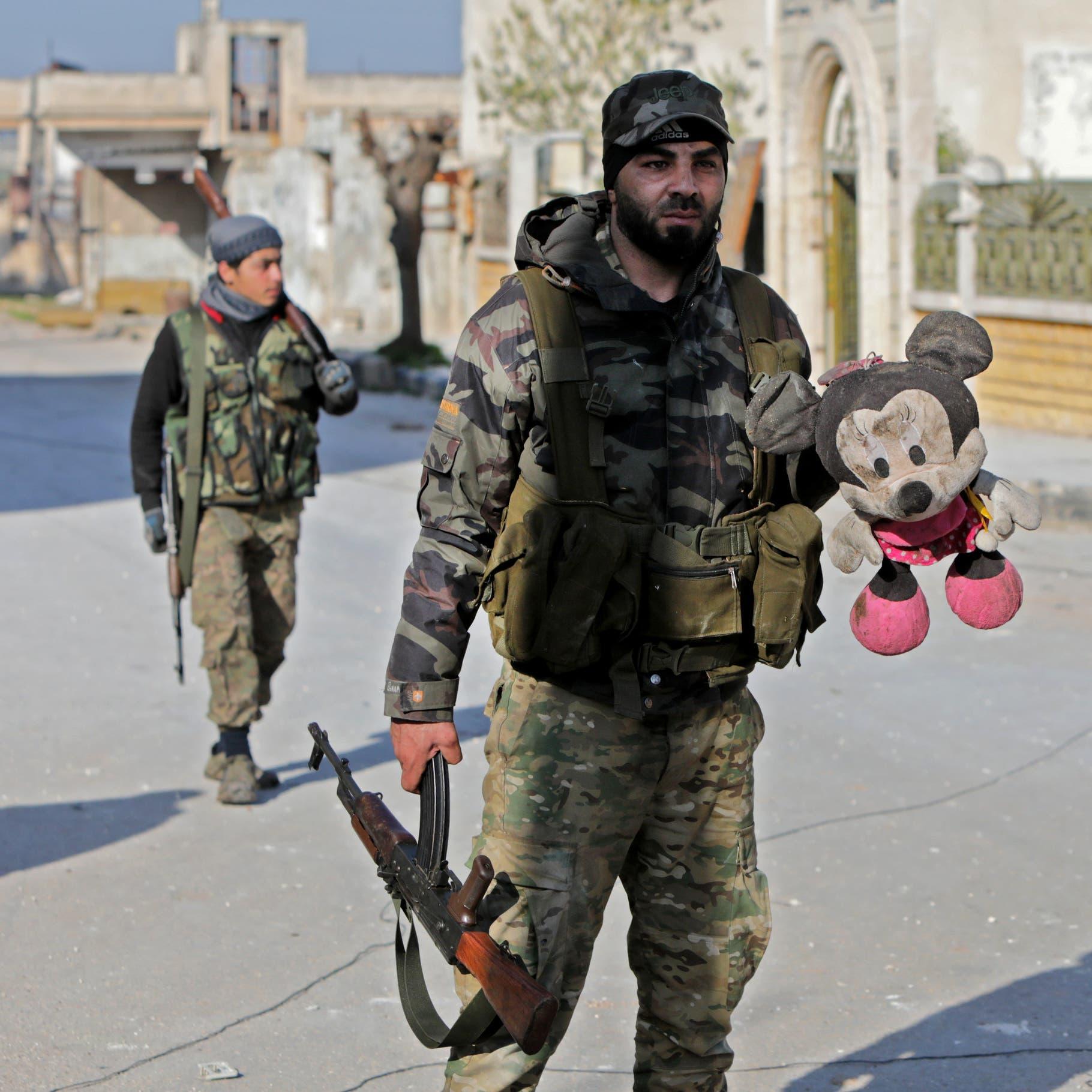 بحثاً عن الكنوز.. فصائل موالية لتركيا تهدم مئذنة مسجد
