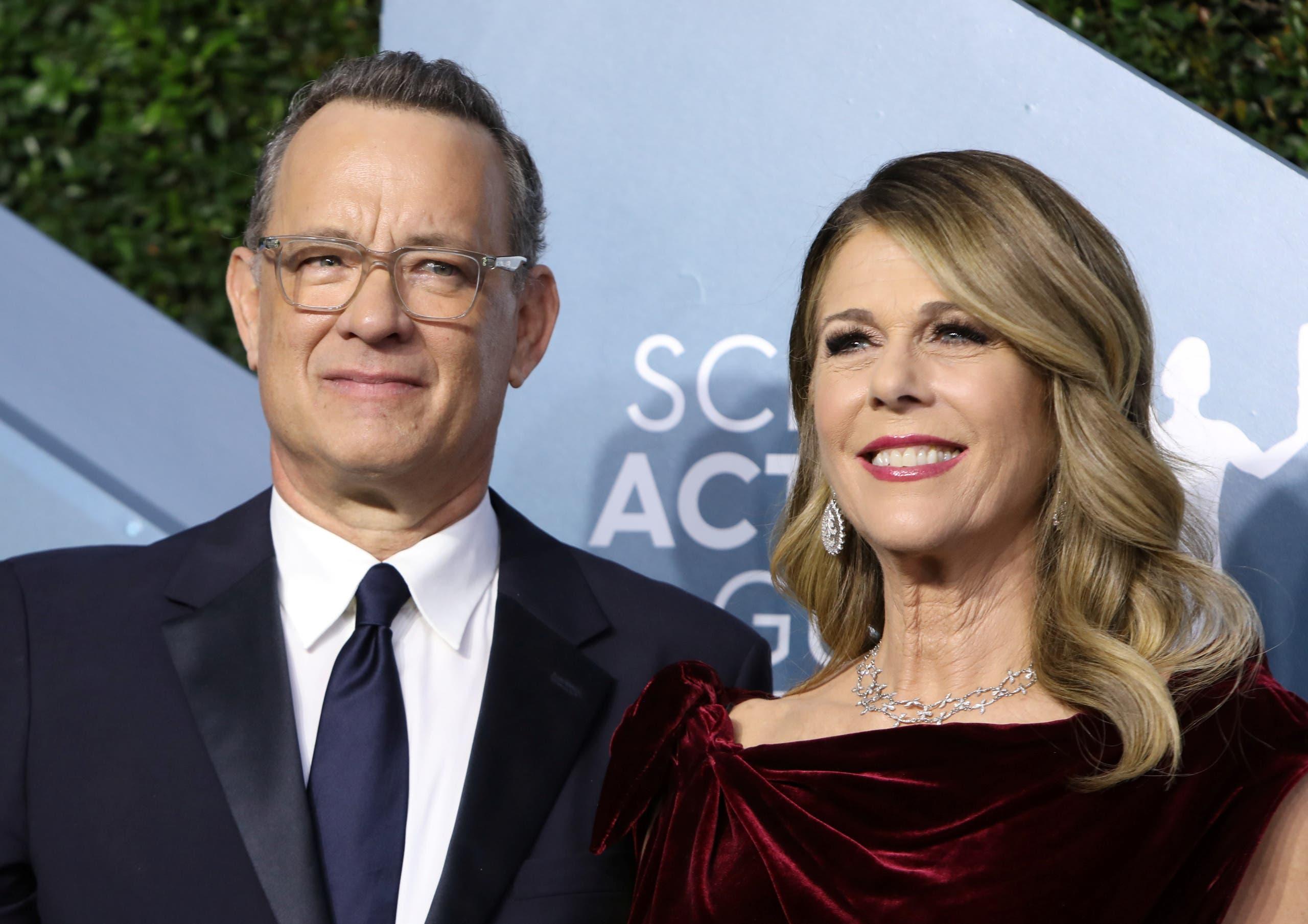 توم هانكس وزوجته الممثلة ريتا ويلسون(أرشيفية- رويترز)