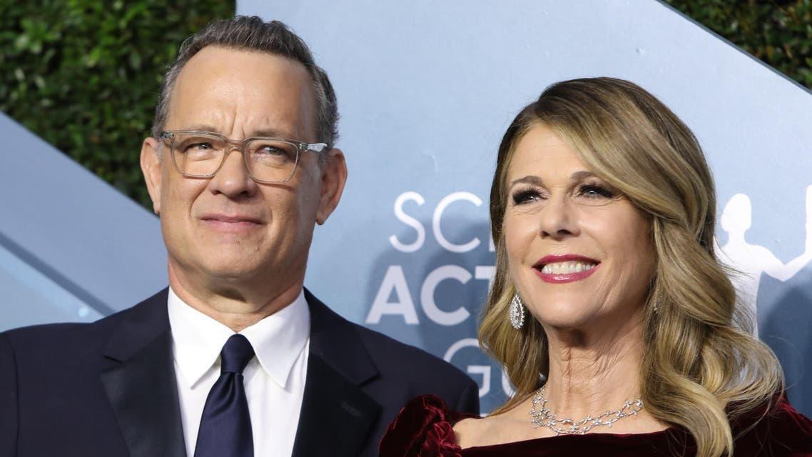 Tom Hanks and Rita Wilson at 26th Screen Actors Guild Awards in Los Angeles, California, US, January 19, 2020. (Reuters)