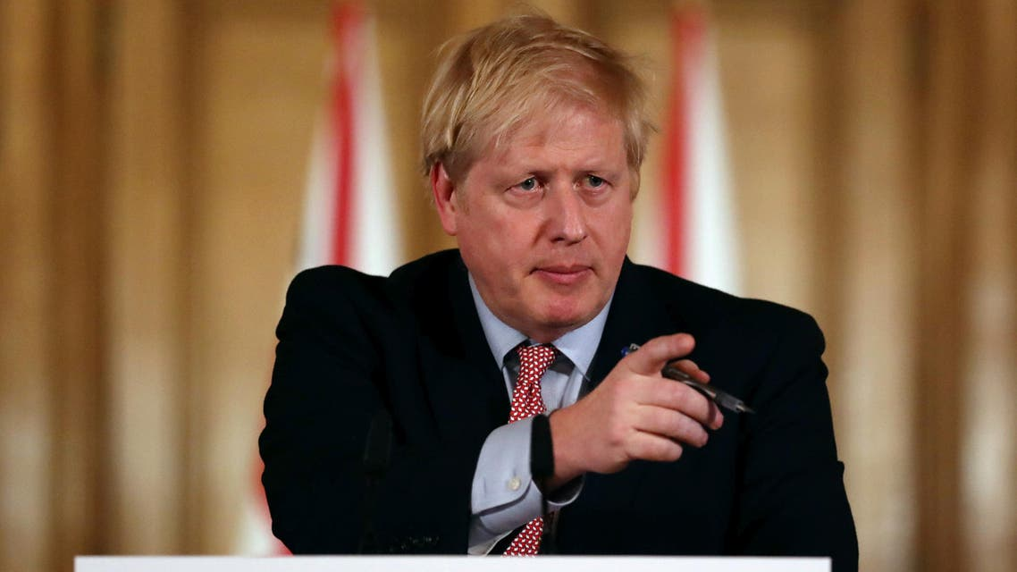 British Prime Minister Boris Johnson holds a news conference addressing the government's response to the coronavirus outbreak, at Downing Street in London, Britain March 12, 2020. (Reuters)
