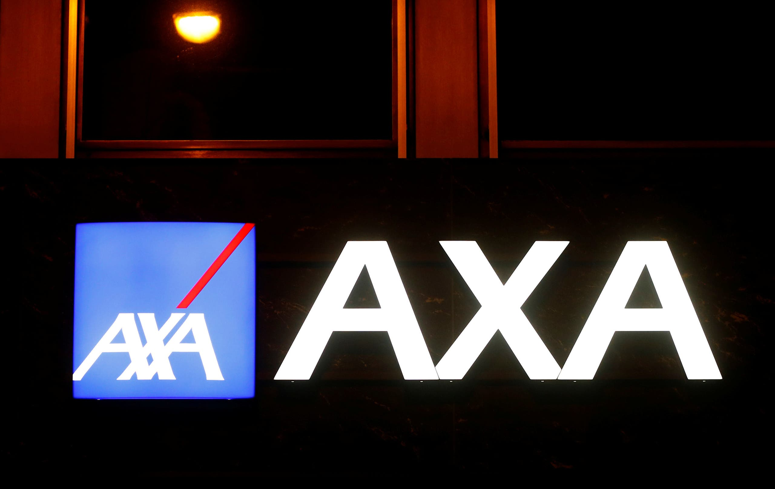 The logo of AXA insurance. (File photo: Reuters)