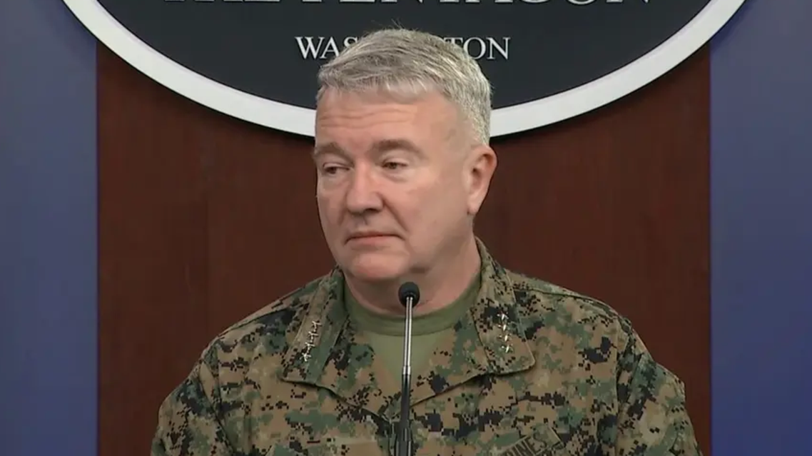 head of the United States Central Command Marine General Kenneth McKenzie. (Screengrab)