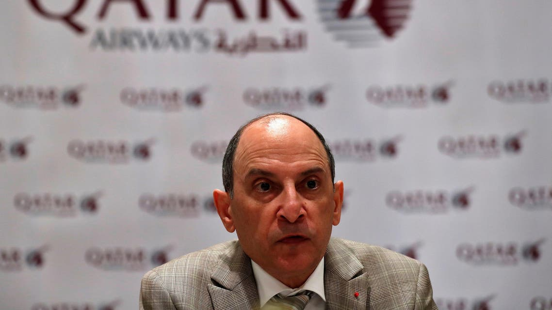 Akbar Al Baker, Qatar Airways CEO, talks to media during a roundtable conference in New Delhi. (File photo: Reuters)