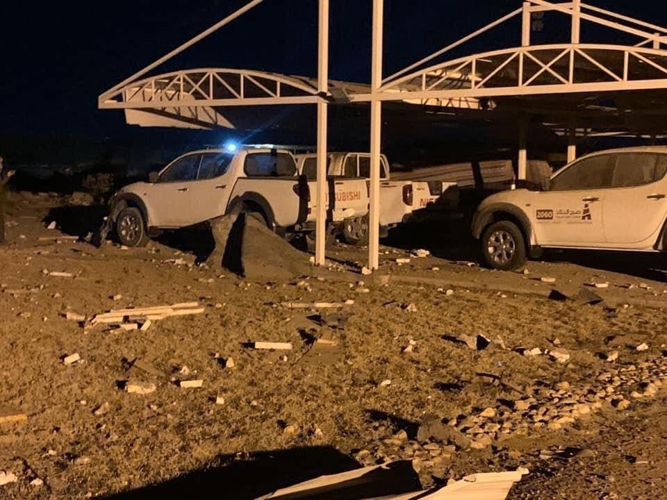 من القصف على مطار كربلاء