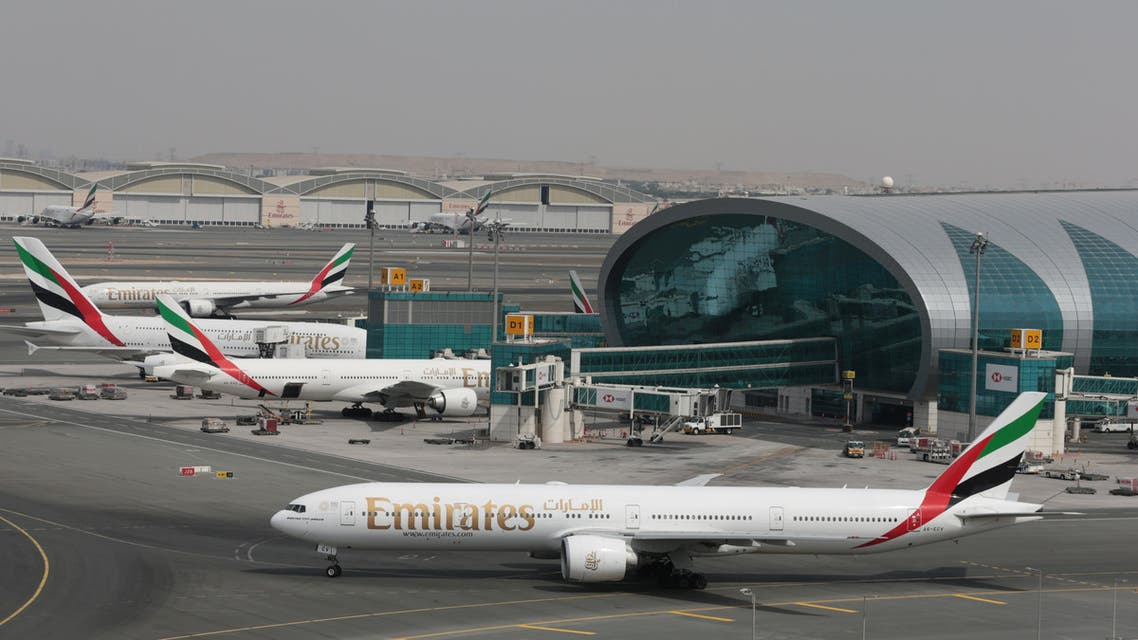 Emirates Airline planes are seen at Dubai International Airport in Dubai, United Arab Emirates February 15, 2019. REUTERS/Christopher Pike