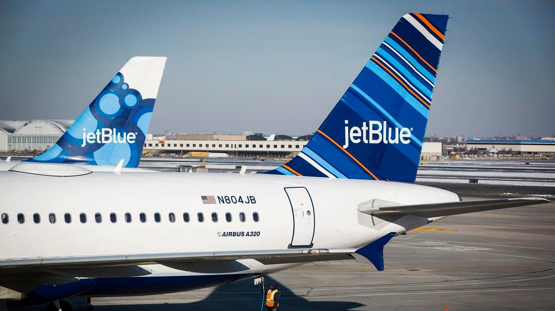 A JetBlue plane is pictured on the tarmac of the John F. Kennedy International Airport in New York. (Reuters)