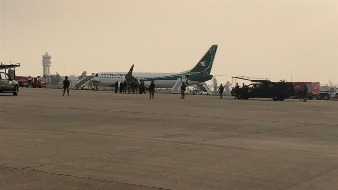 طائرة عراقية قادمة من إيران في مطار بغداد