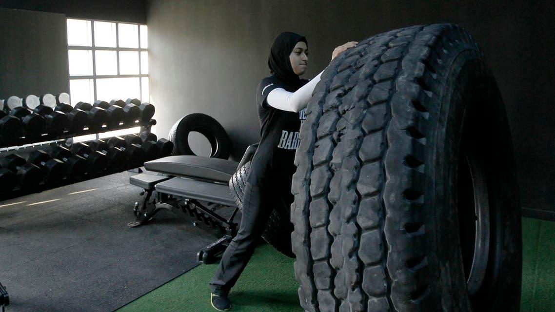 Emirati weightlifter Amna Al Haddad in Dubai November 14, 2012. (File photo: Reuters)